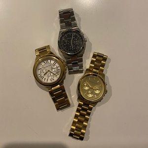 SET OF 3 Michael Kors Watches!